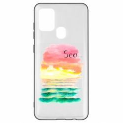 Чехол для Samsung A21s Watercolor pattern with sea