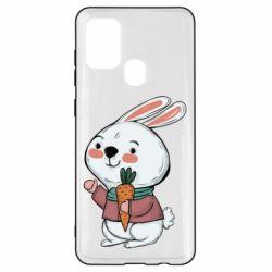 Чохол для Samsung A21s Winter bunny