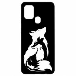 Чехол для Samsung A21s Wolf And Fox