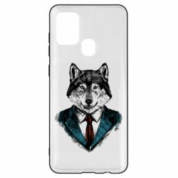 Чехол для Samsung A21s Wolf in costume