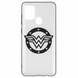 Чохол для Samsung A21s Wonder woman logo and stars
