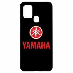 Чехол для Samsung A21s Yamaha Logo(R+W)