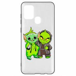 Чехол для Samsung A21s Yoda and Grinch
