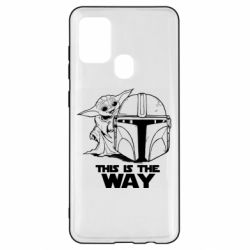 Чехол для Samsung A21s Yoda and Mandalore Helmet