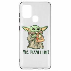 Чехол для Samsung A21s Yoda and pizza
