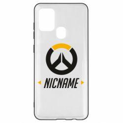 Чехол для Samsung A21s Your Nickname Overwatch