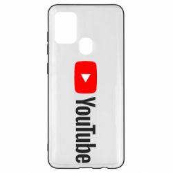 Чехол для Samsung A21s Youtube logotype