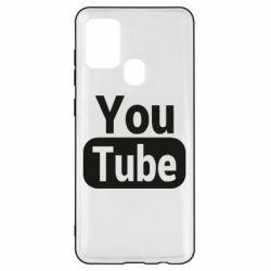 Чохол для Samsung A21s Youtube vertical logo