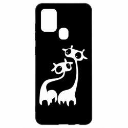 Чехол для Samsung A21s Жирафы