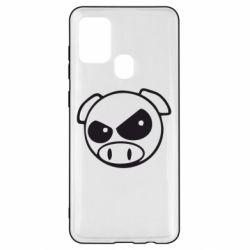Чехол для Samsung A21s Злая свинка