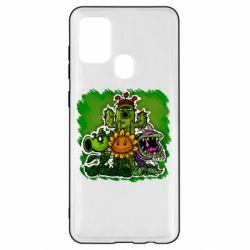 Чехол для Samsung A21s Zombie vs Plants players