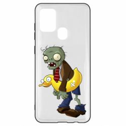 Чехол для Samsung A21s Zombie with a duck