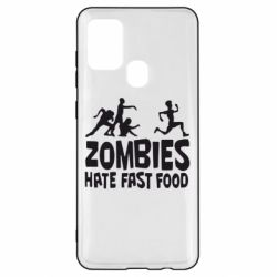 Чохол для Samsung A21s Zombies hate fast food