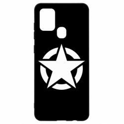 Чохол для Samsung A21s Зірка Капітана Америки