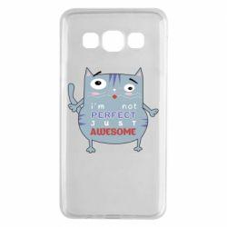 Чехол для Samsung A3 2015 Cute cat and text