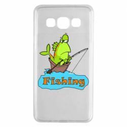 Чехол для Samsung A3 2015 Fish Fishing