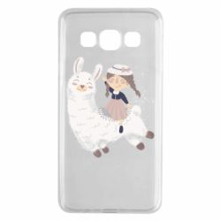 Чохол для Samsung A3 2015 Girl with a lama