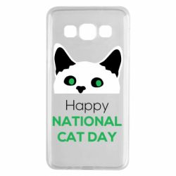 Чехол для Samsung A3 2015 Happy National Cat Day