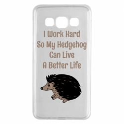 Чехол для Samsung A3 2015 Hedgehog with text