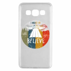 Чехол для Samsung A3 2015 I want to believe text
