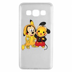 Чехол для Samsung A3 2015 Mickey and Pikachu