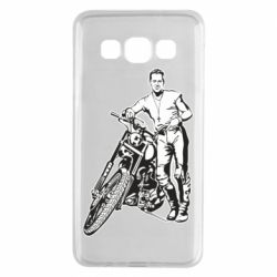 Чехол для Samsung A3 2015 Mickey Rourke and the motorcycle