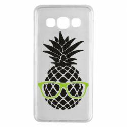 Чехол для Samsung A3 2015 Pineapple with glasses