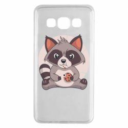 Чохол для Samsung A3 2015 Raccoon with cookies