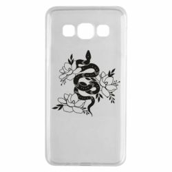 Чохол для Samsung A3 2015 Snake with flowers