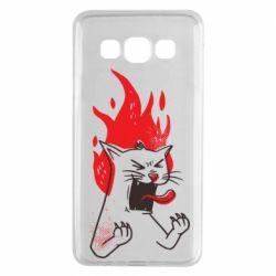 Чохол для Samsung A3 2015 The cat is mad