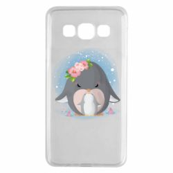 Чехол для Samsung A3 2015 Two cute penguins
