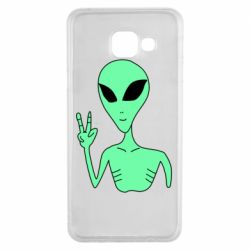 Чехол для Samsung A3 2016 Alien and two fingers