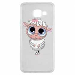 Чехол для Samsung A3 2016 Cute lamb with big eyes