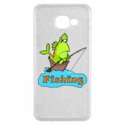 Чехол для Samsung A3 2016 Fish Fishing