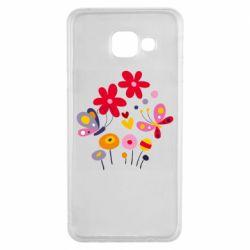 Чехол для Samsung A3 2016 Flowers and Butterflies