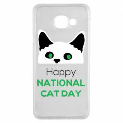 Чехол для Samsung A3 2016 Happy National Cat Day
