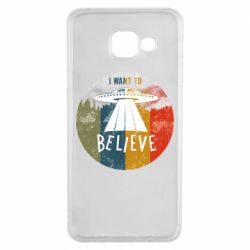 Чехол для Samsung A3 2016 I want to believe text