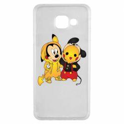 Чехол для Samsung A3 2016 Mickey and Pikachu