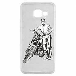 Чехол для Samsung A3 2016 Mickey Rourke and the motorcycle