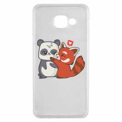 Чохол для Samsung A3 2016 Panda and fire panda