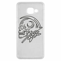 Чохол для Samsung A3 2016 Skull with scythe