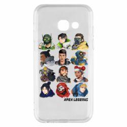Чохол для Samsung A3 2017 Apex legends heroes
