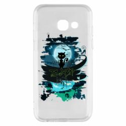Чехол для Samsung A3 2017 Black cat art
