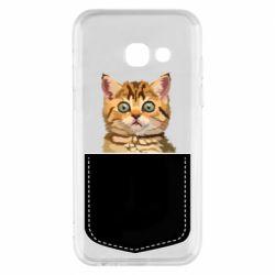 Чехол для Samsung A3 2017 Cat in your pocket