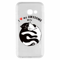 Чехол для Samsung A3 2017 Cats with a smile