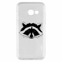 Чохол для Samsung A3 2017 Cute raccoon face