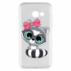 Чехол для Samsung A3 2017 Cute raccoon