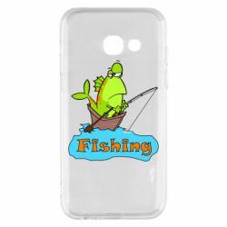 Чехол для Samsung A3 2017 Fish Fishing