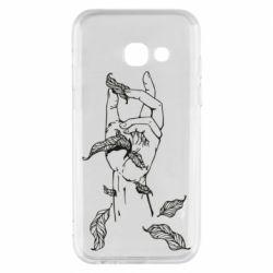 Чохол для Samsung A3 2017 Hand with leafs