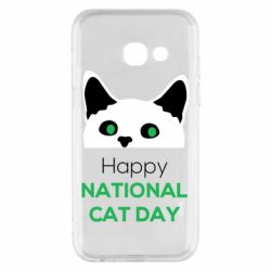 Чехол для Samsung A3 2017 Happy National Cat Day